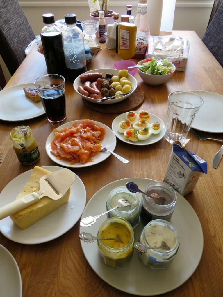 Lunchrester på midsommardagen