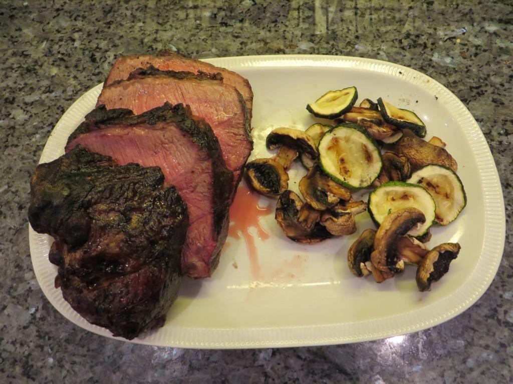 Kött, svamp och squash