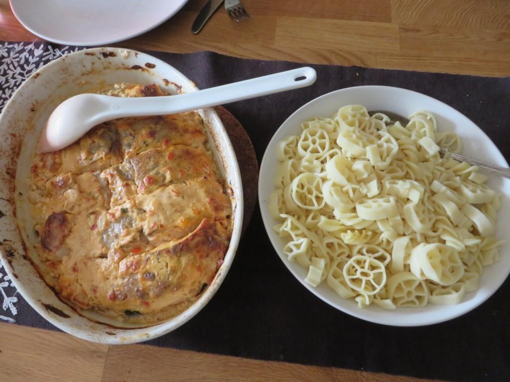 Lax med pasta