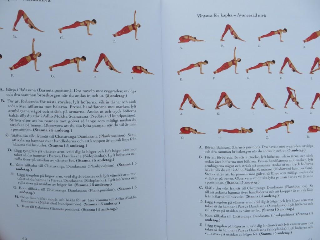 Yogasekvenser i bild och ord