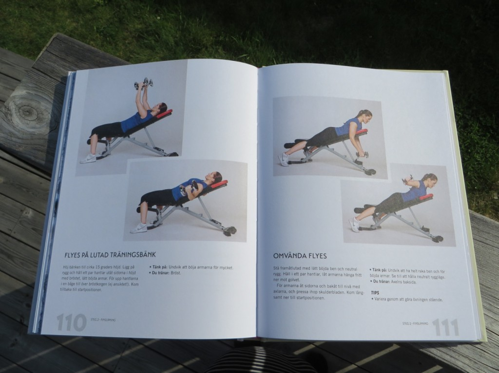 Övningarna delas upp i tre steg