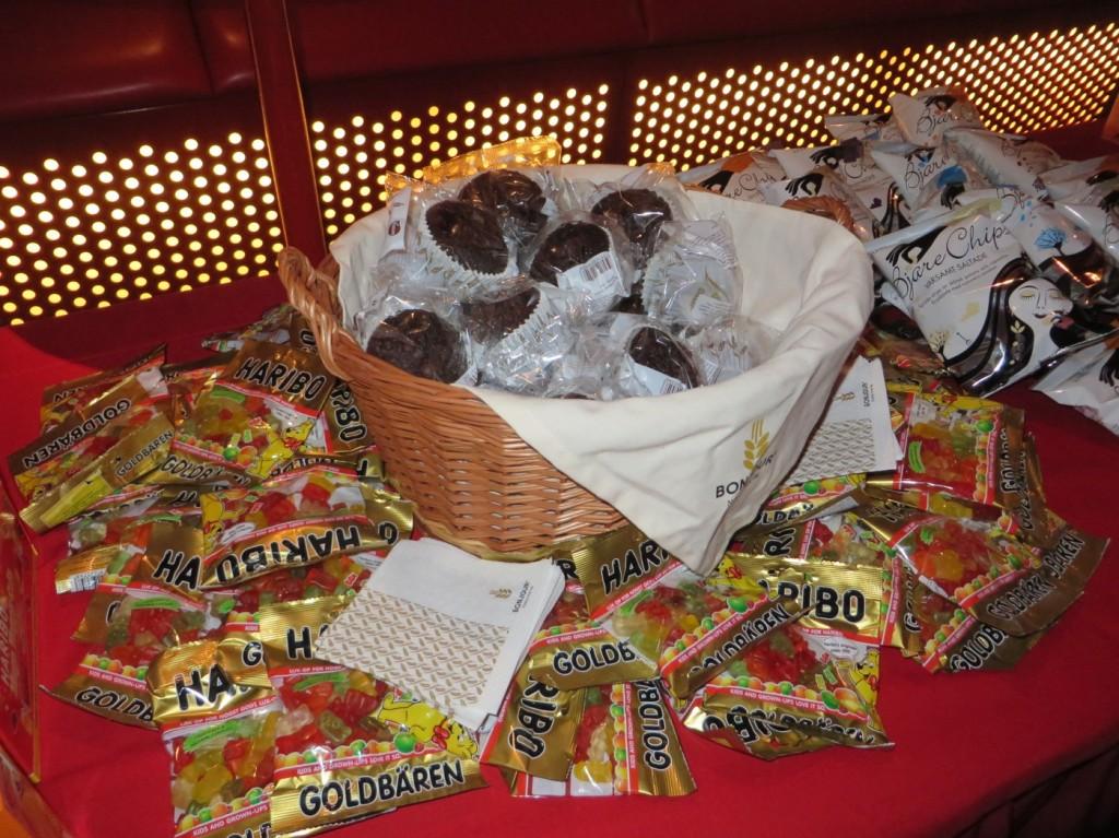 Olika sorters godis och muffins