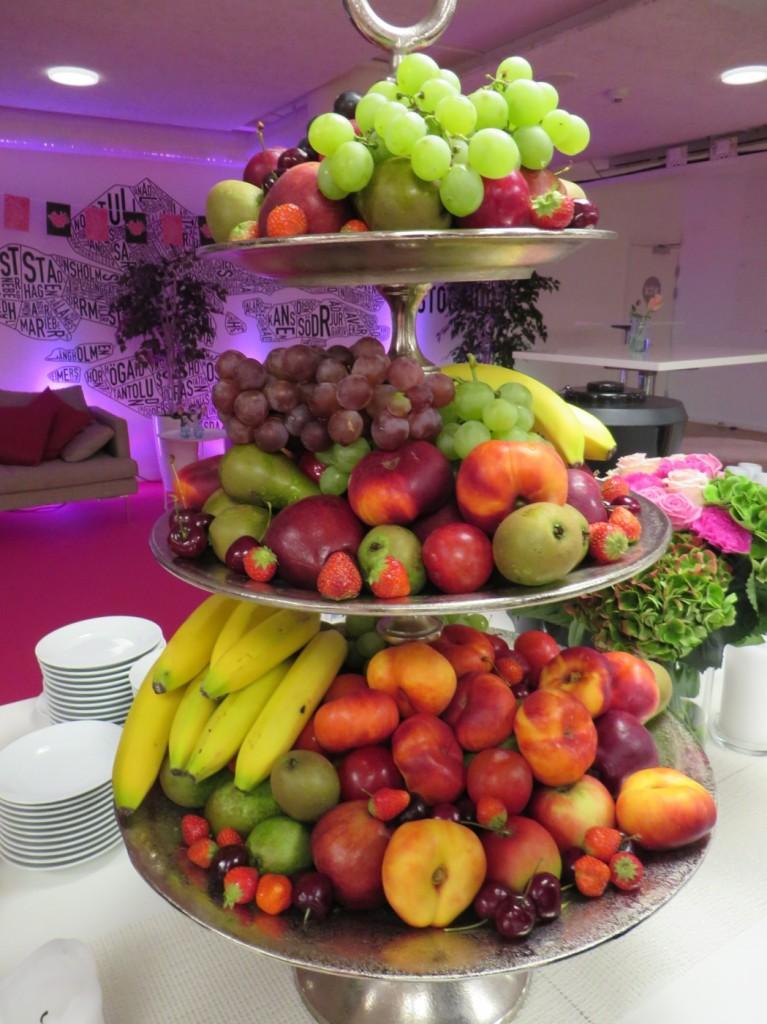 Färggrann frukt