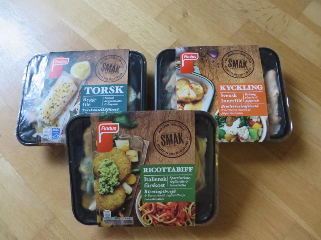 Färdiglagad mat från Findus