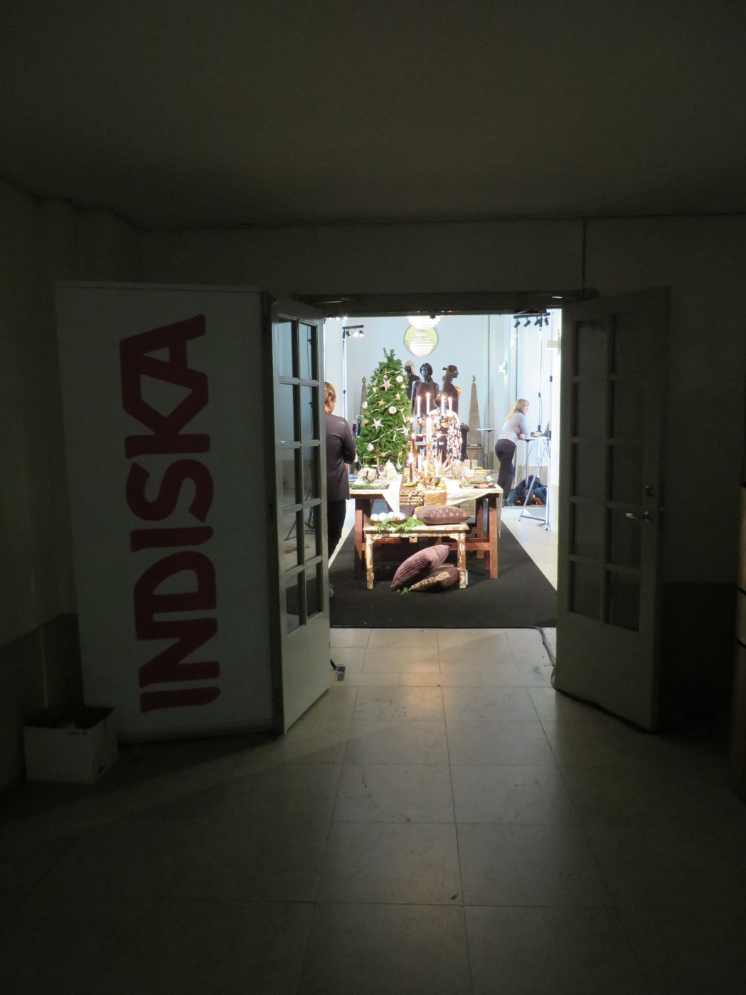 Indiskas pressvisning jul 2014 på Livrustkammaren