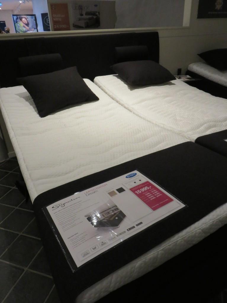 En justerbar säng från Jensen i mellanprisläge
