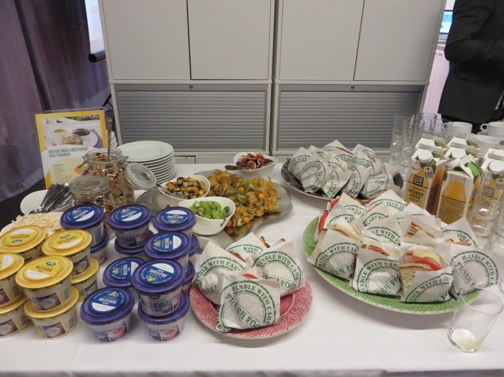 Arla bjuder på ett välsmakande frukostbord