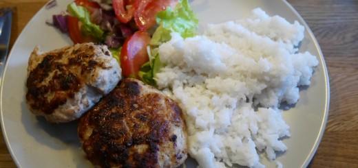 Kycklingbiffar med kokosris
