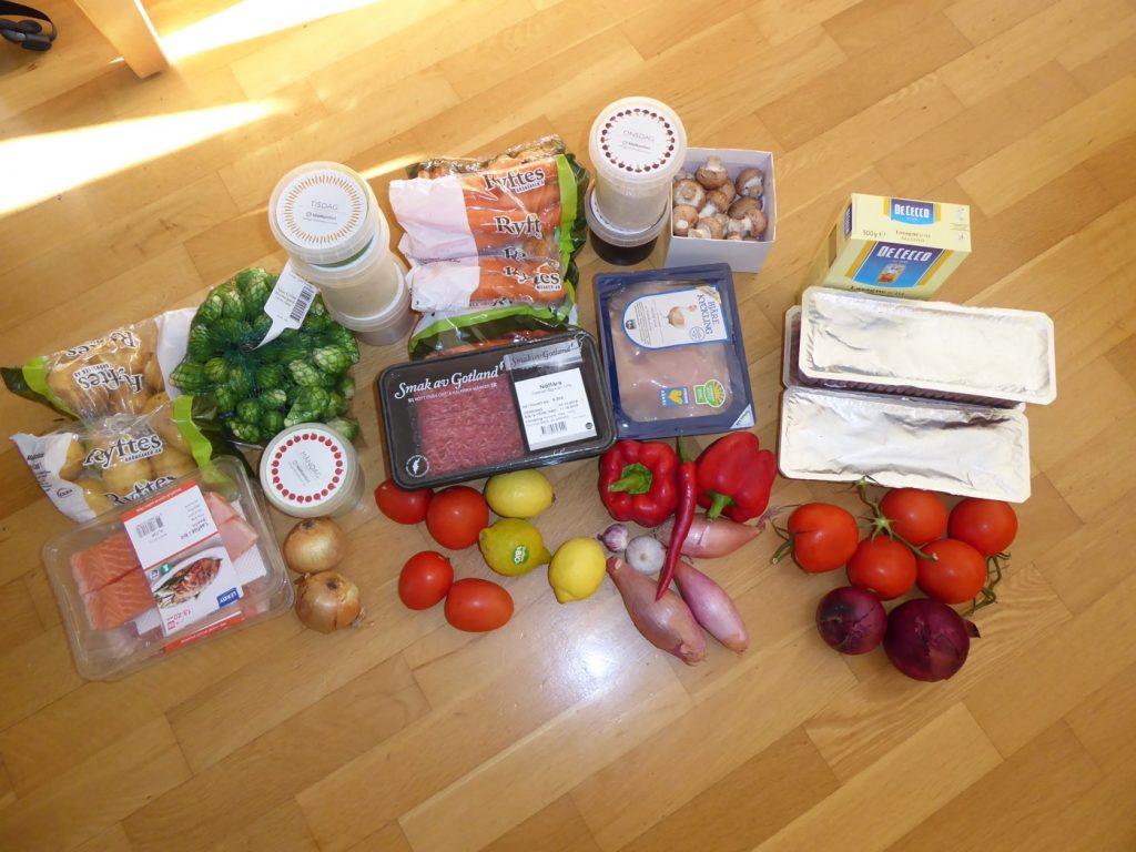 Portionsförpackat och noga uträknat för att minska matsvinn.