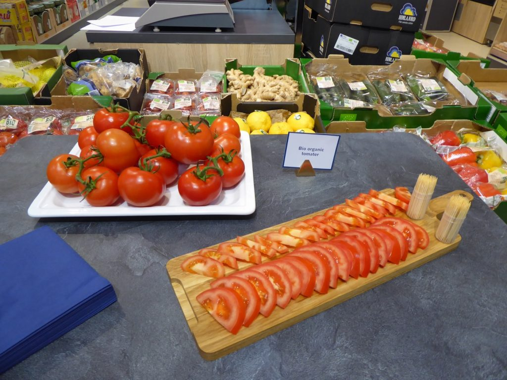 Riktigt goda solmogna eko-tomater.