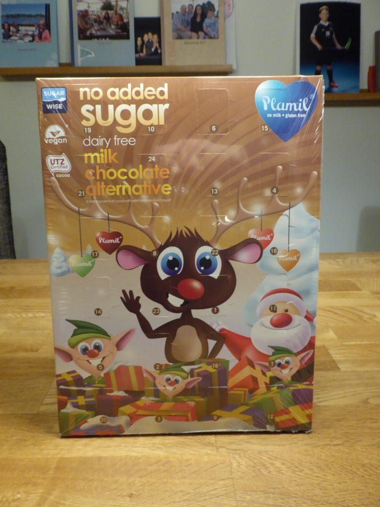 Mjölkfrichokladkalenderhelt utan tillsatt socker, sötad med xylitol