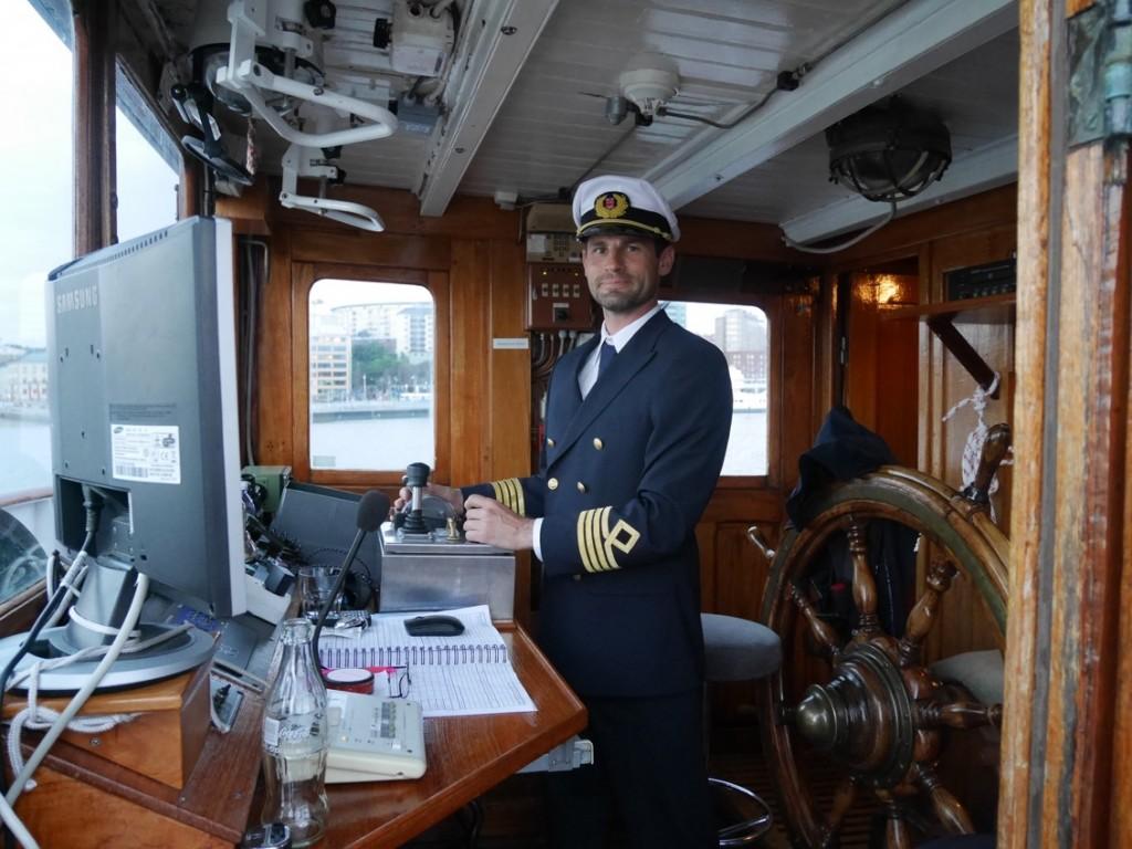Kvällens kapten på skutan.