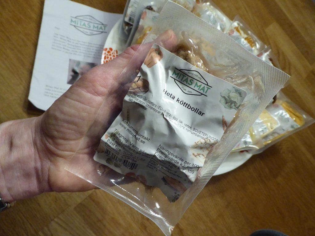 Singelpackad färdiglagad mat.