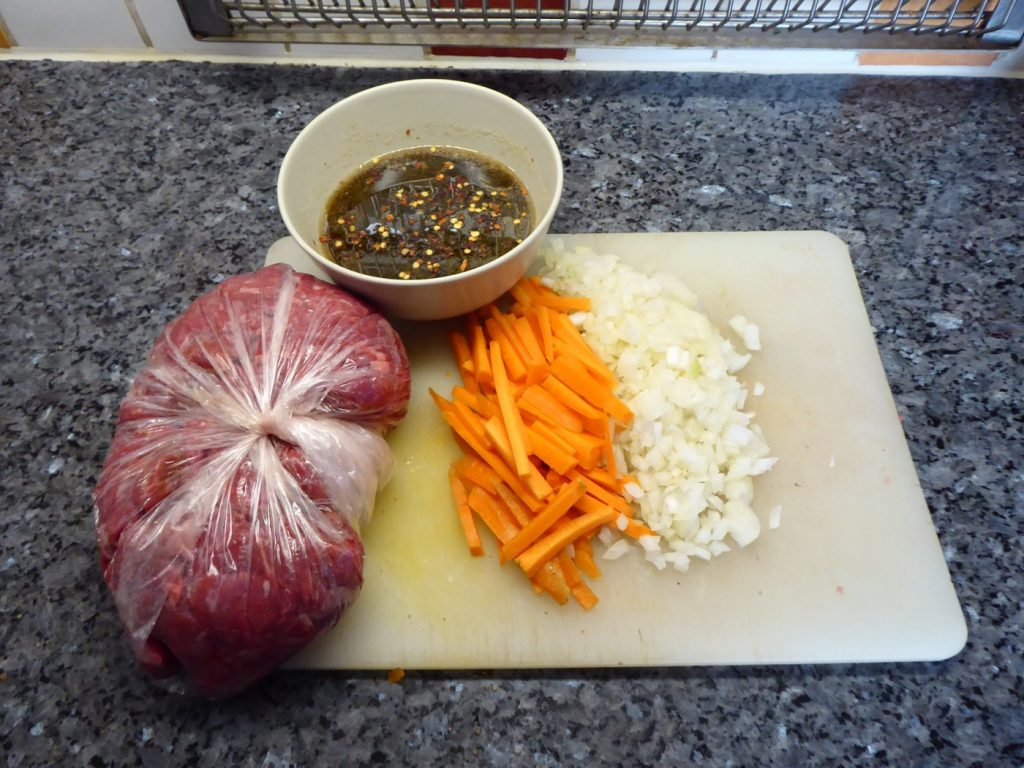 Ingredienser till Koreansk biff i Crock Pot