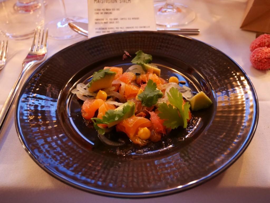 Marinerad lax med grape, chipotle och avokado
