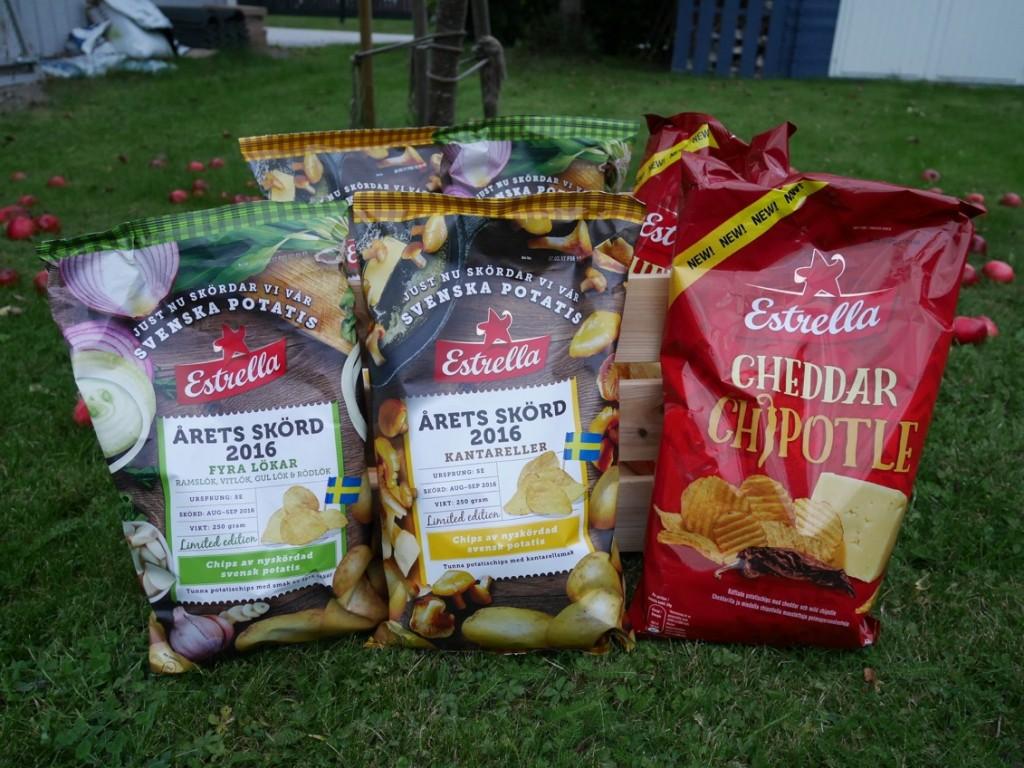 Årets skörd är lövtunna chips och Cheddar chipotle är räfflade chips