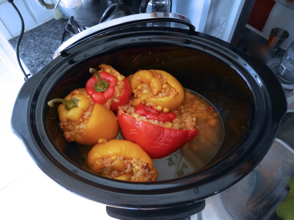 Fylld paprika i Crock-Pot