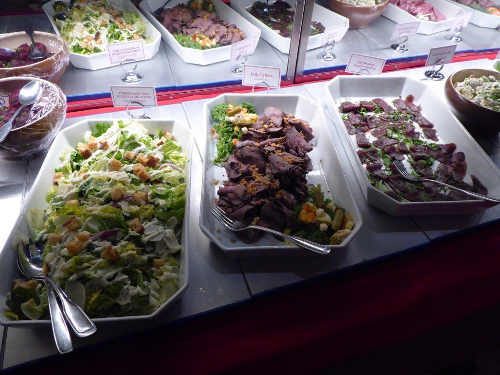 Visst finns det både kött och grönt!
