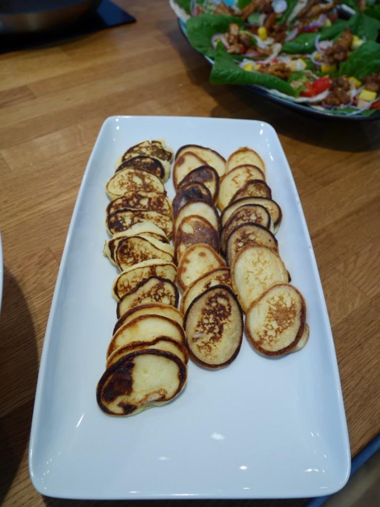 ... och tillhörande potatisplättar.