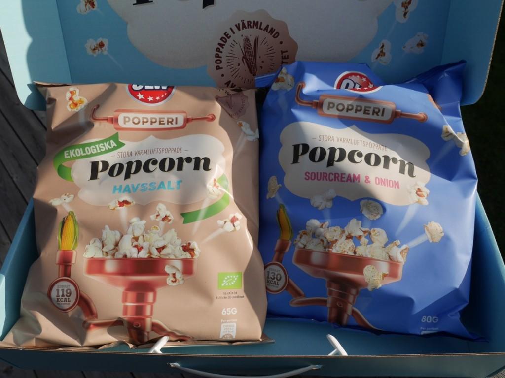Fräscha, goda popcorn!