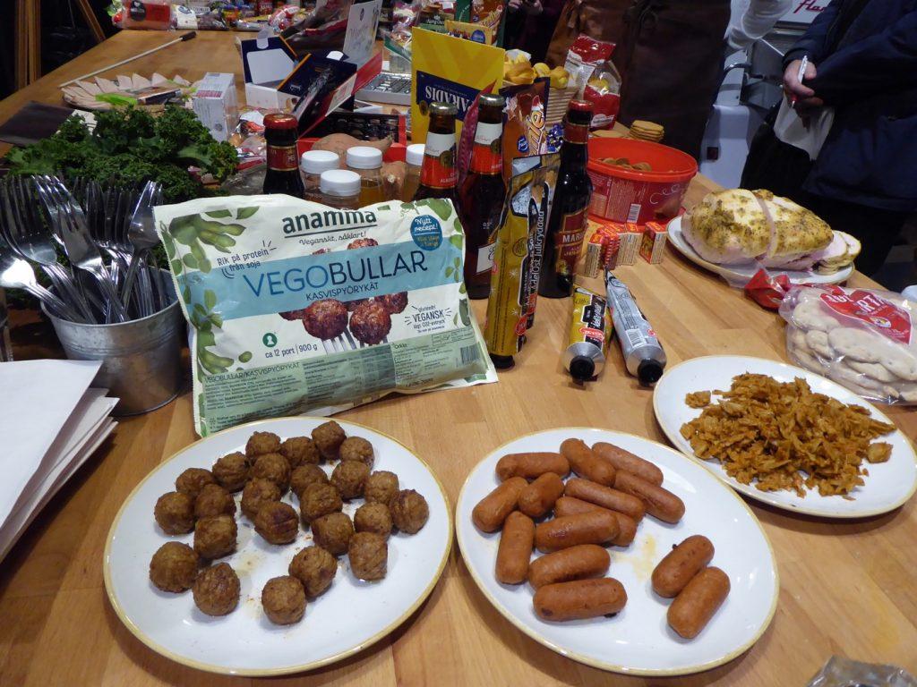 Vegetariska köttsubstitut som passar till jul.