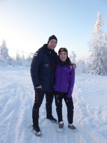 Mattias och jag har precis njutit av längdskidåkning.