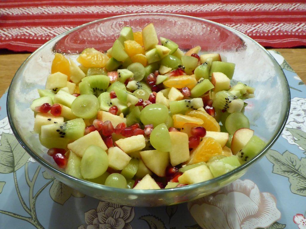 Färgsprakande fruktsallad