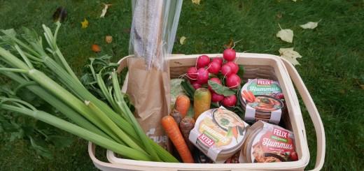Hälsosamt och vegetariskt snack