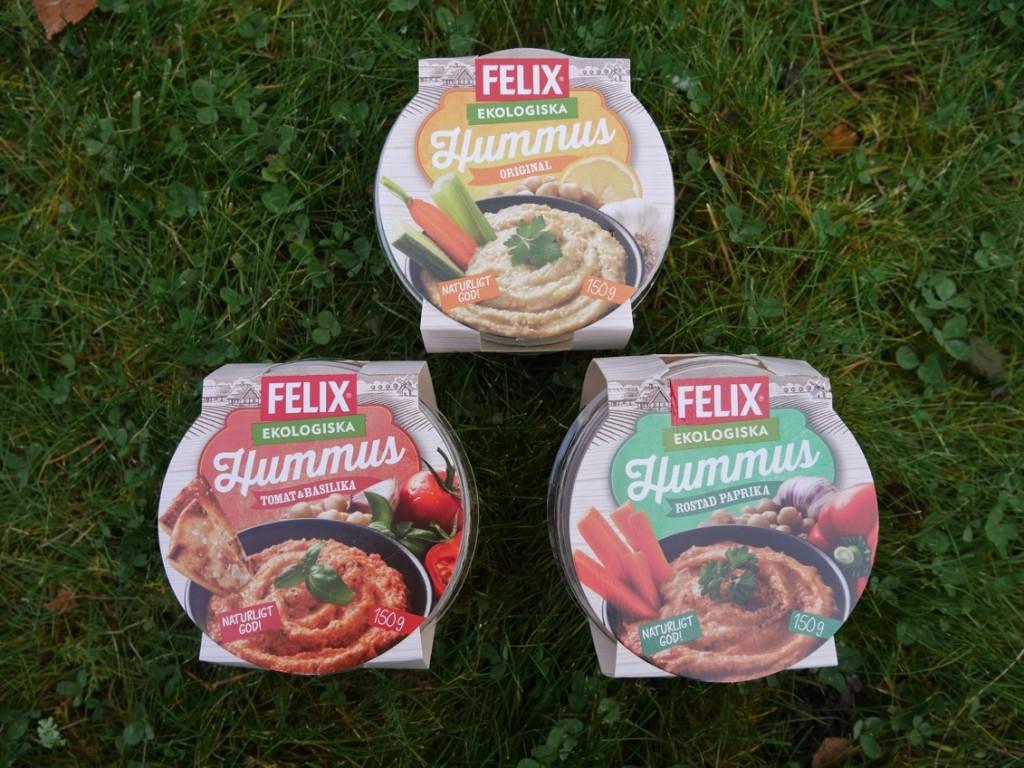 Felix ekologisk hummus - nyhet i kyldisken.