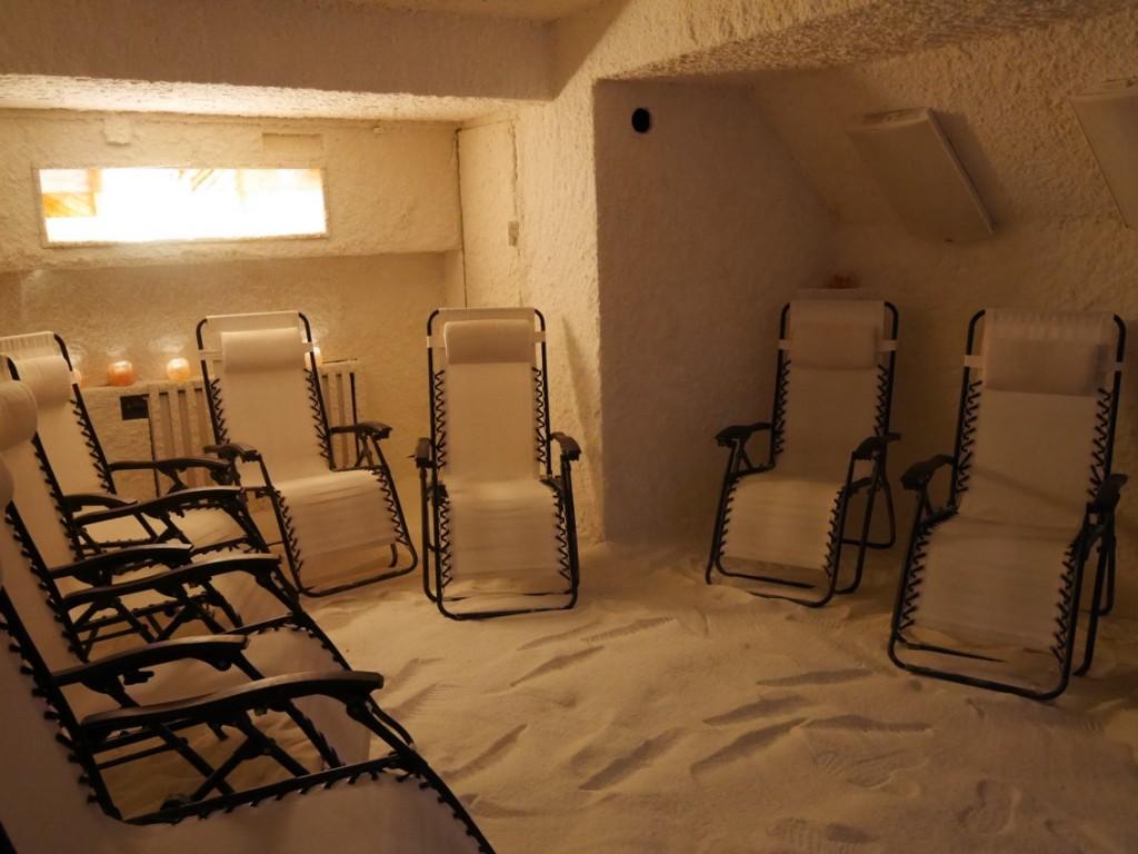 Behandlingsrummet för saltbehandling och ljusterapi.