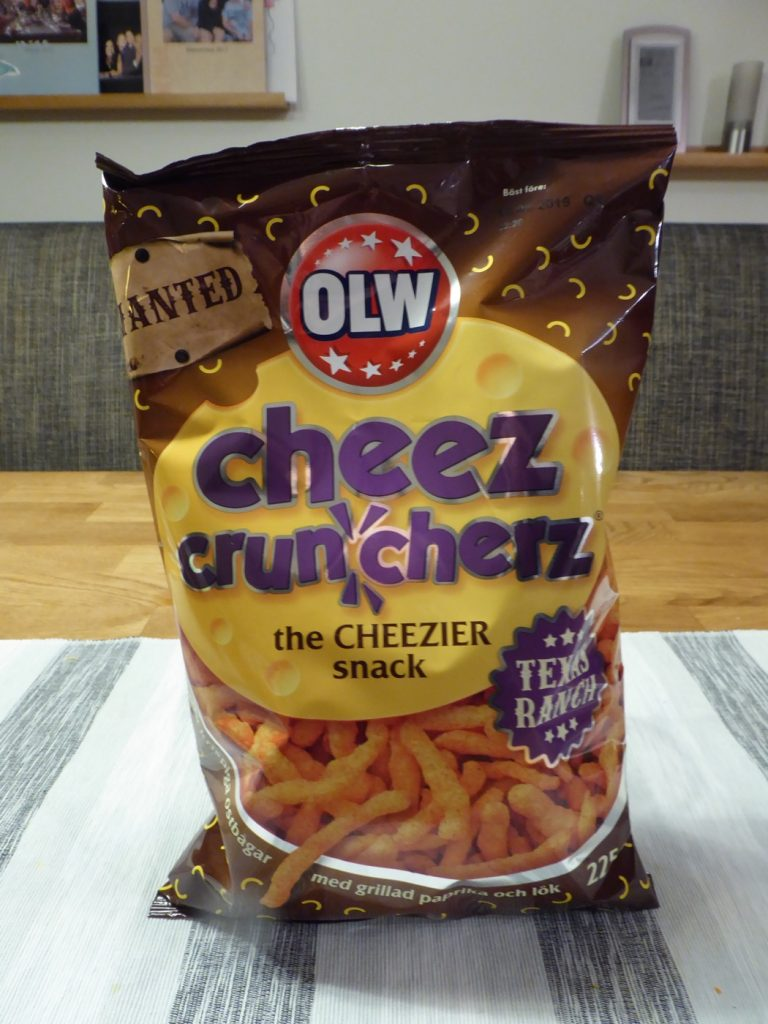 Cheez cruncherz i smaken Texas Ranch