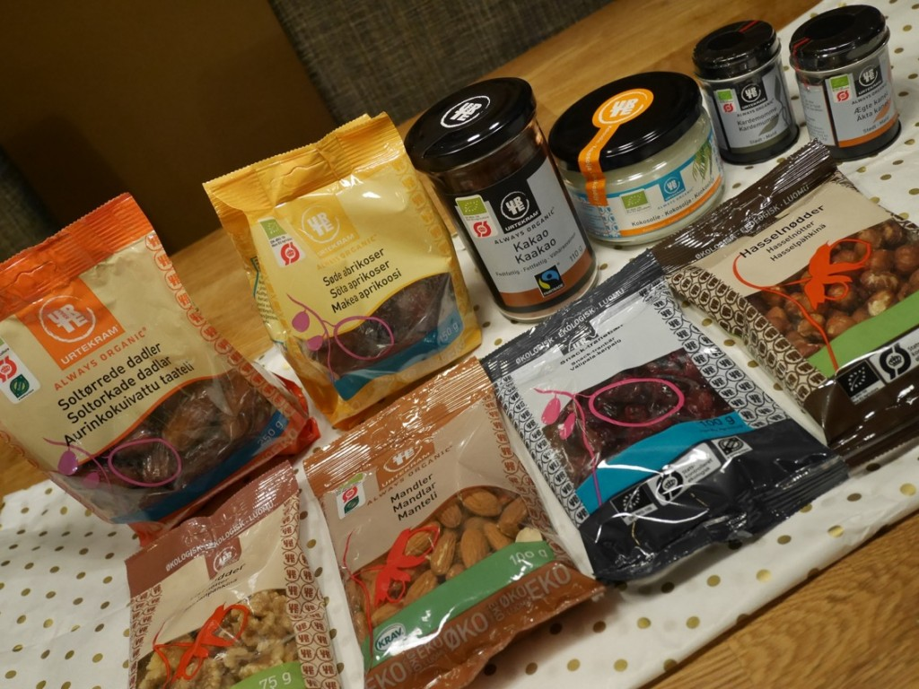 Härliga ekologiska produkter perfekt till helgens bakande.