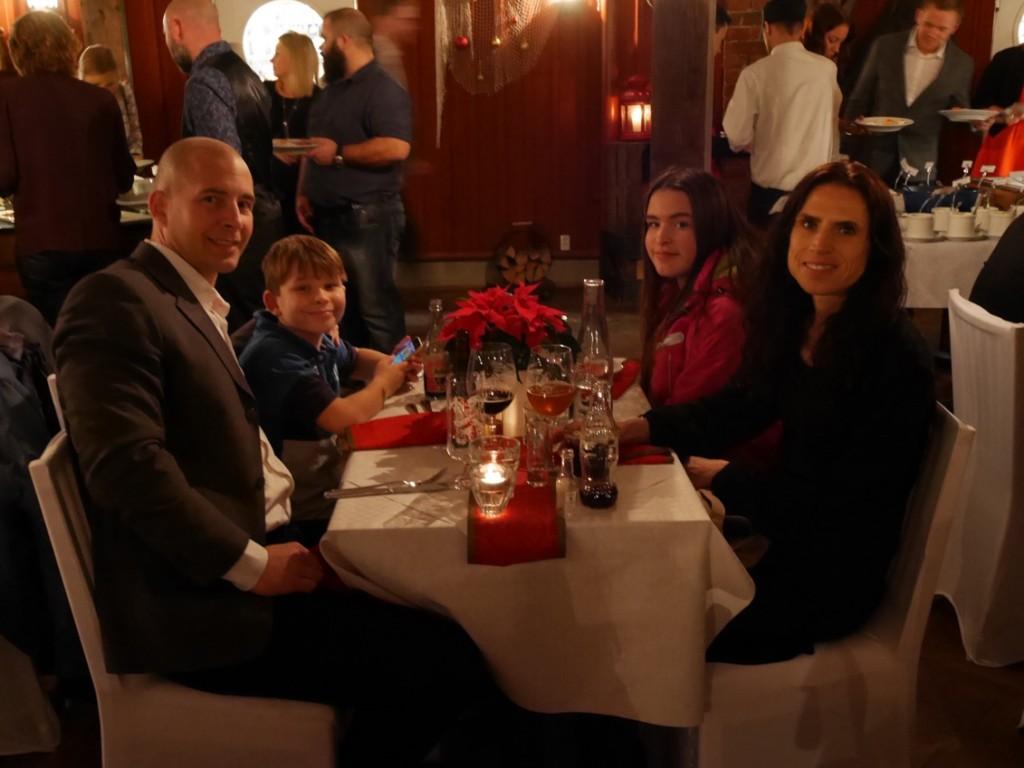 Vi åt och njöt och hade en fantastisk kväll!