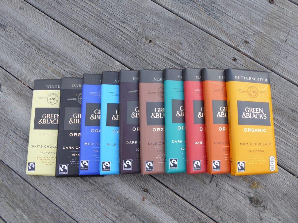 Chokladkakorna kommer i 10 varianter och har olika kakaohalt