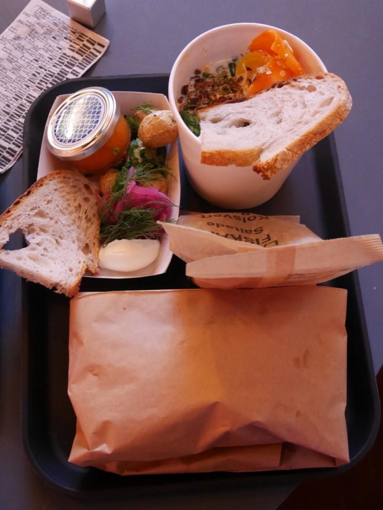4-rätters lunch på en bricka!