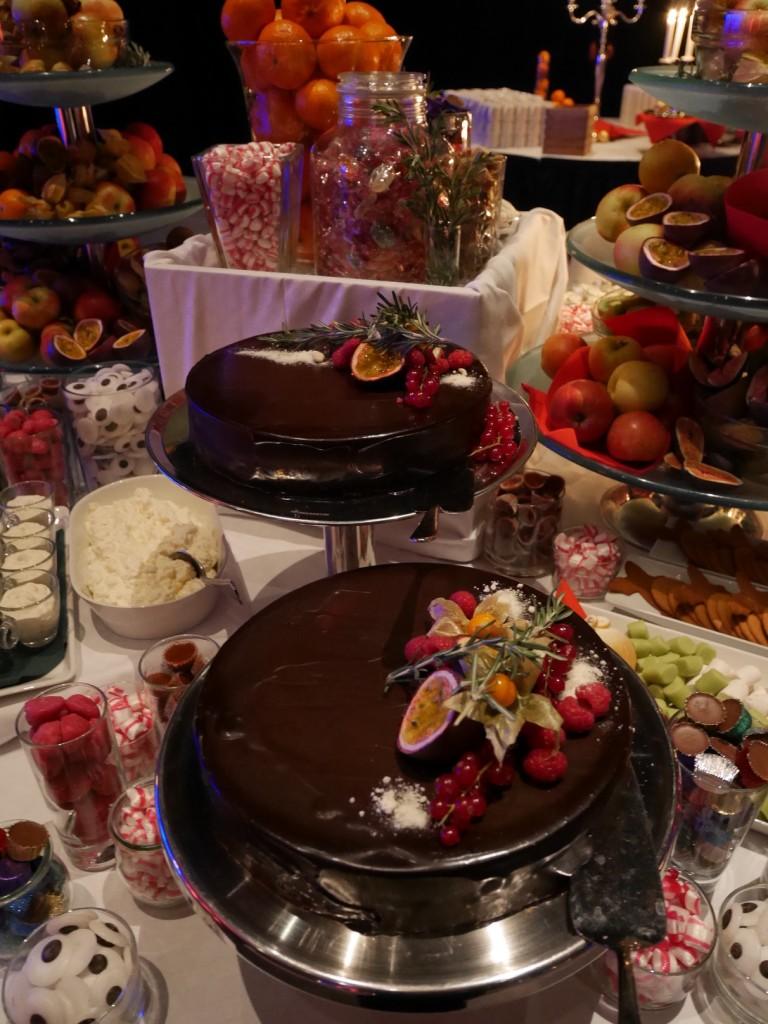 Chokladtårtorna var riktigt goda.