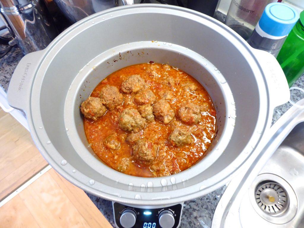 Köttbullar i tomatsås i Crock Pot