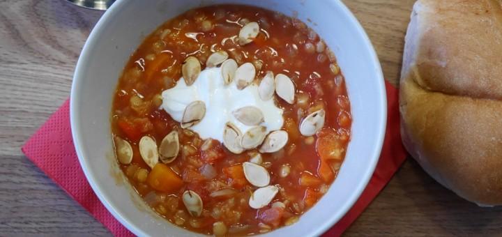 Orientalisk linssoppa.