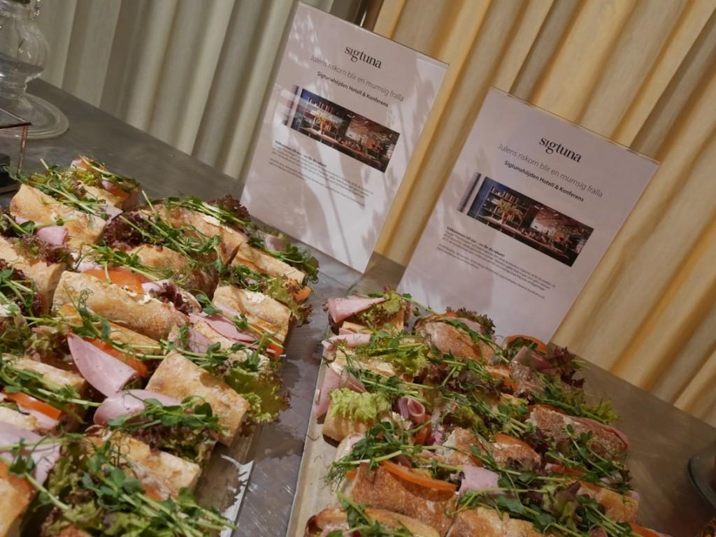 Destination Sigtuna bjöd på svinnsmarta smörgåsar.