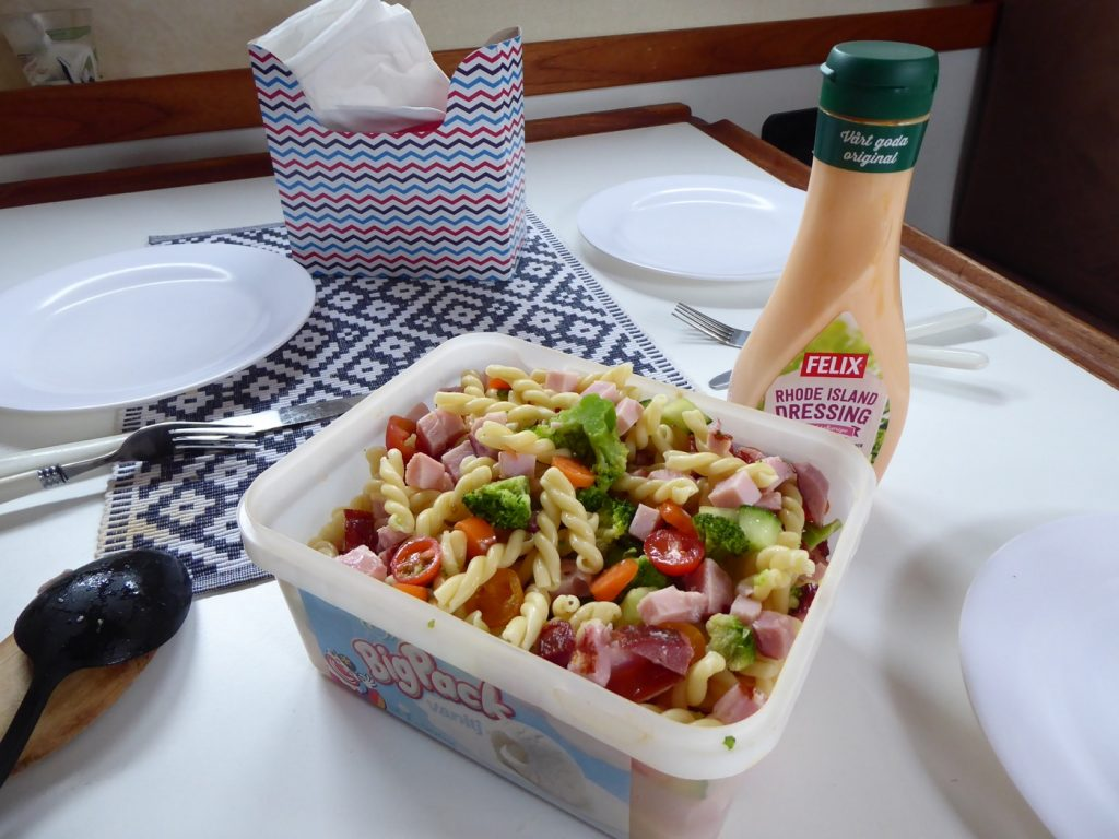 Perfekt lunch att laga och äta ombord.