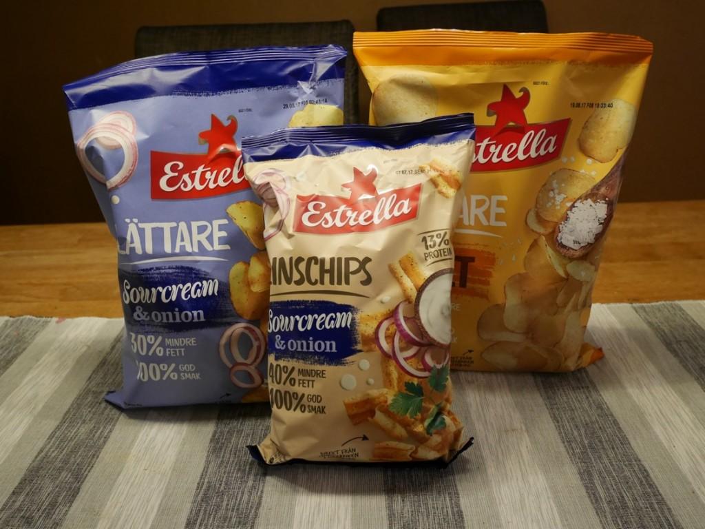 Nya lättare chips från Estrella