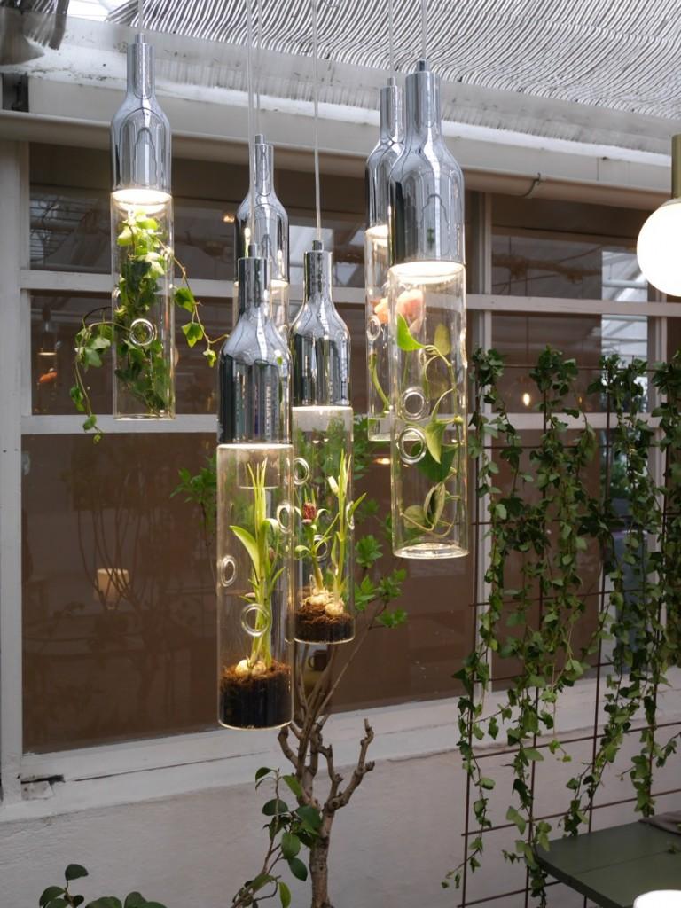 Mina absoluta favorit i utställningen - lampan med växter från Markslöjd.