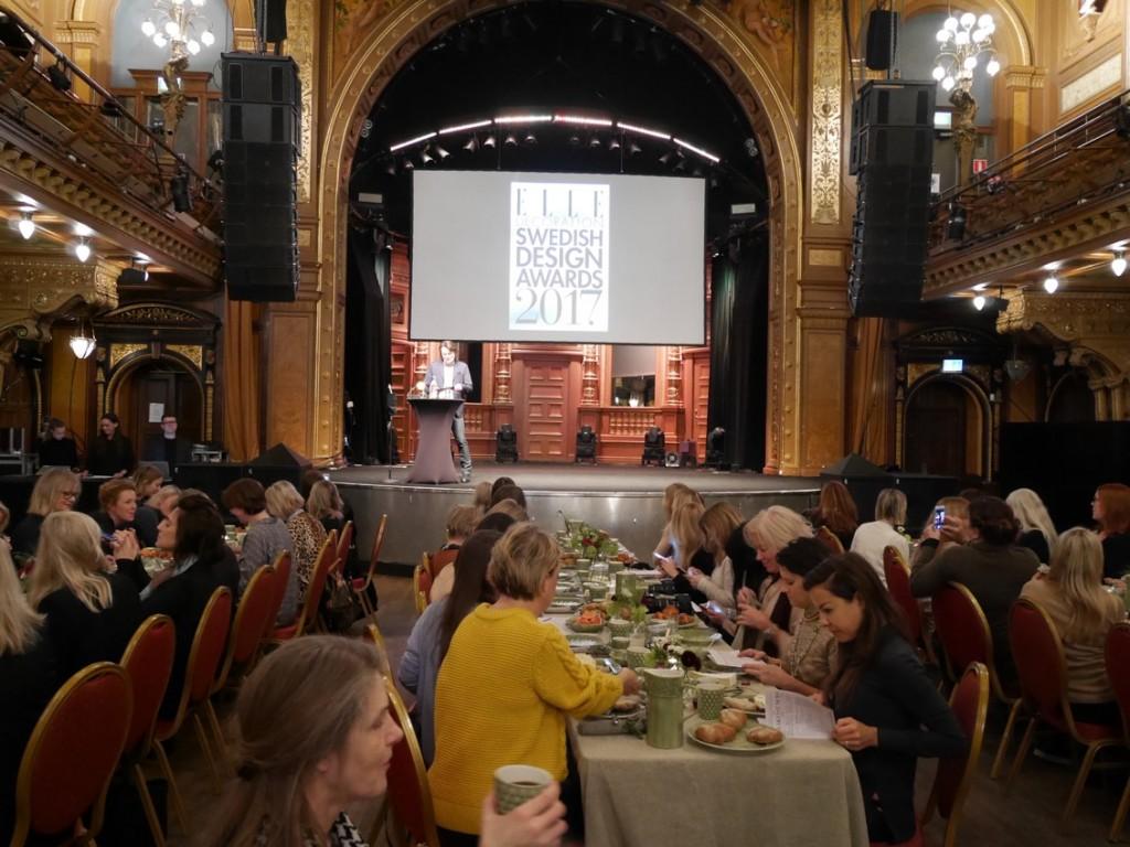 Pressfrukost för ELLE Decoration Swedish Design Awards 2017