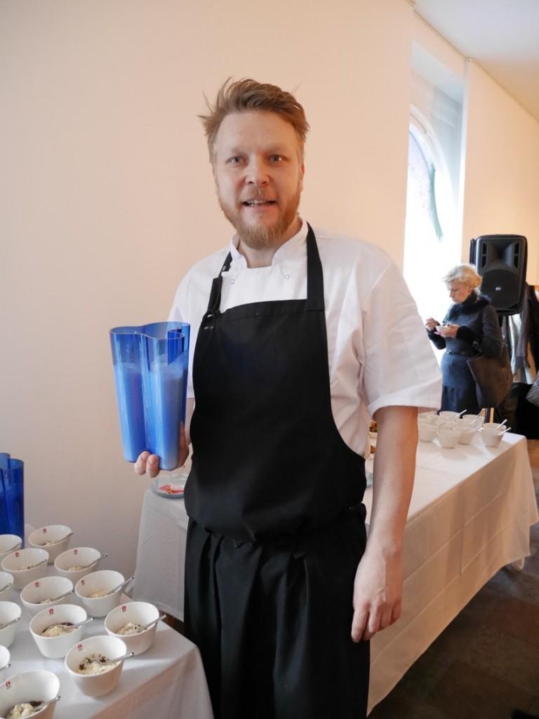 Dagens hälsosamma lunch hade kocken Sami Tallberg komponerat.
