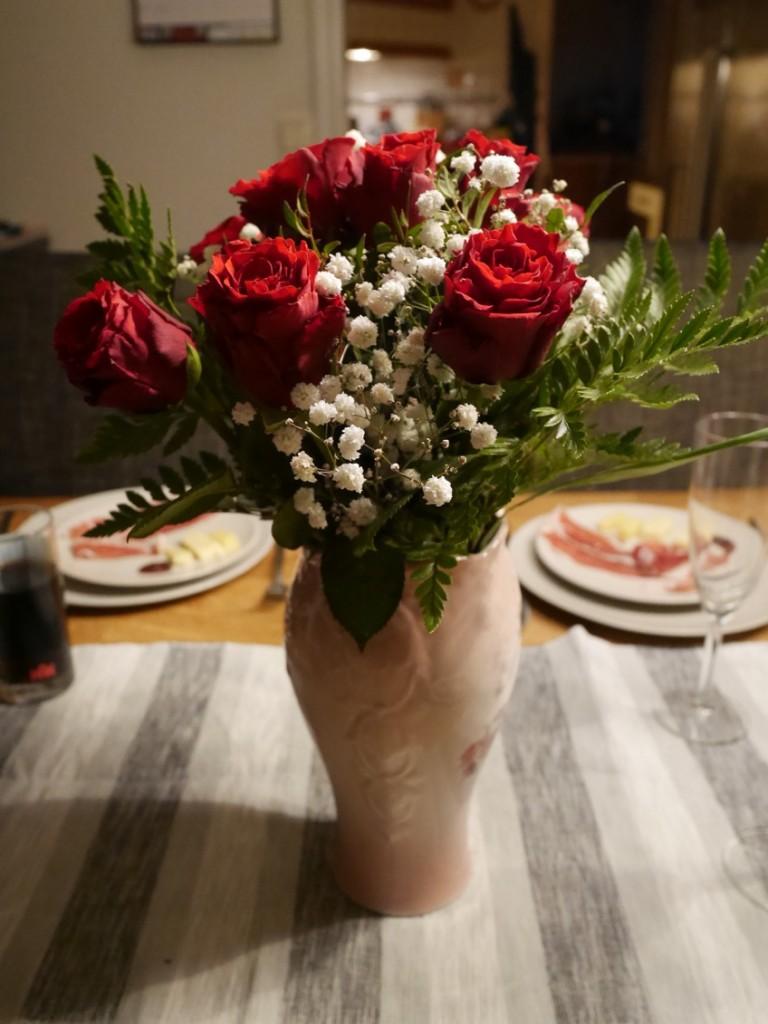 Underbart fina rosor från maken.