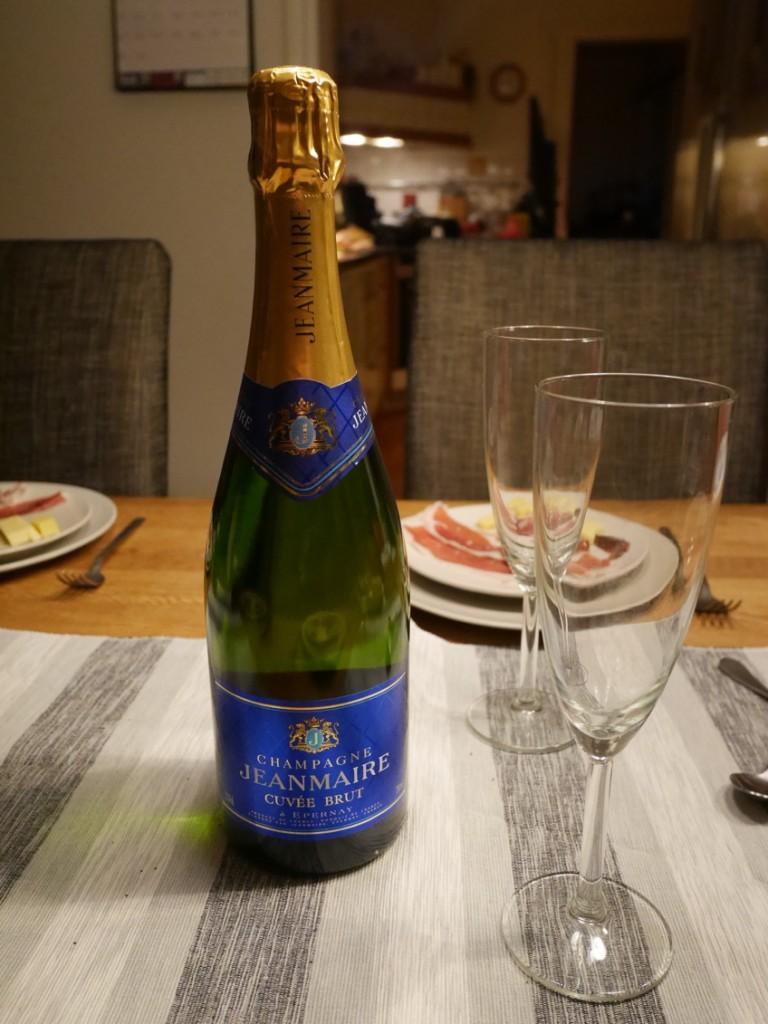 Äkta champagne, så här på en tisdag!