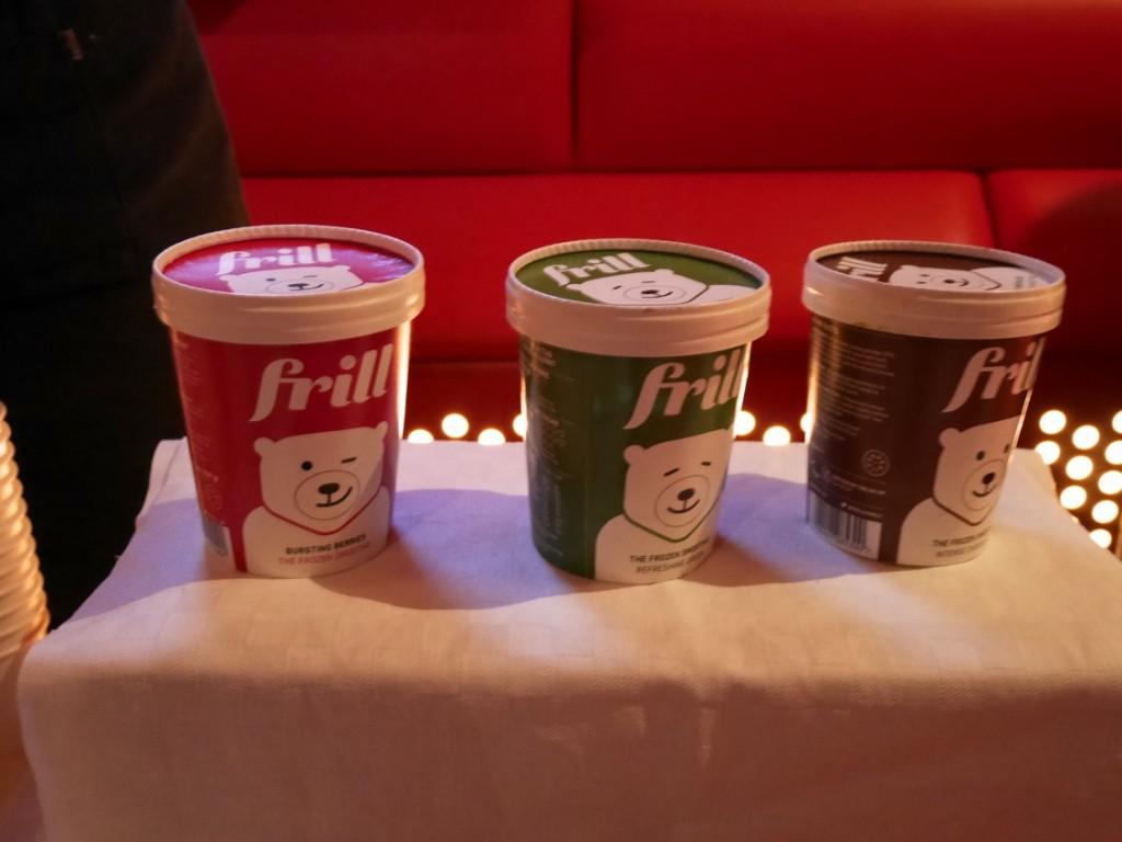 Den nya hälsosamma glassen Frill.