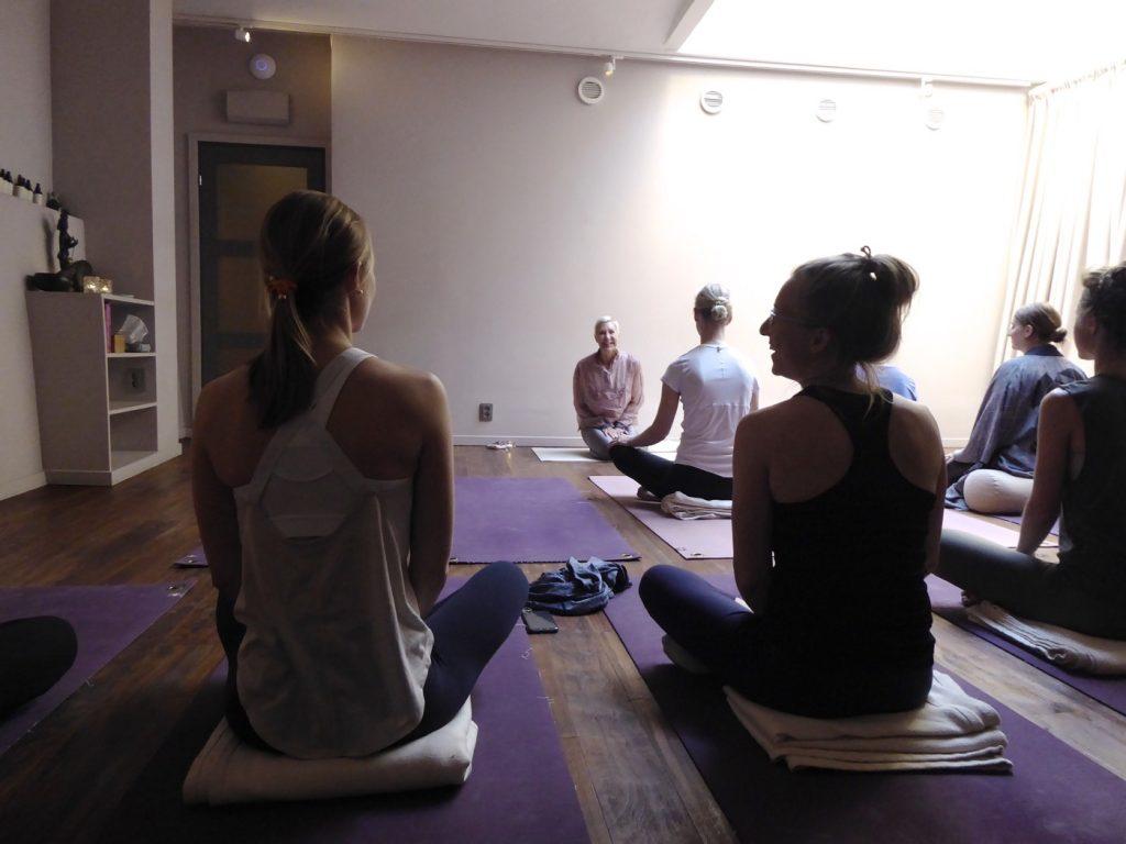 Jennie Liljefors guidade oss igenom den 40 minuter lugna meditationen.