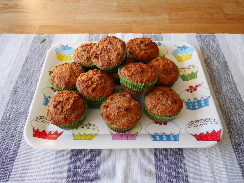 Nybakade nyttiga muffins!