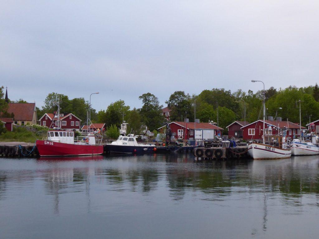 Pittoreskt hamnområde.